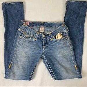 "True Religion Bootcut Jeans 26"" waist 31"" length"